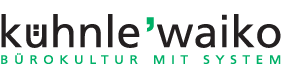 kühnle'waiko | D-74427 Fichtenberg – BÜROKULTUR MIT SYSTEM Logo